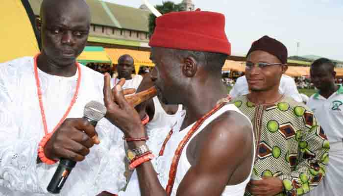 Flute (Akpele) competition at the festival